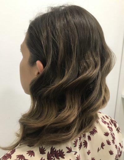 Peinado Medio, hondas al agua sueltas con tenacilla by Ana Fuencarral 2018